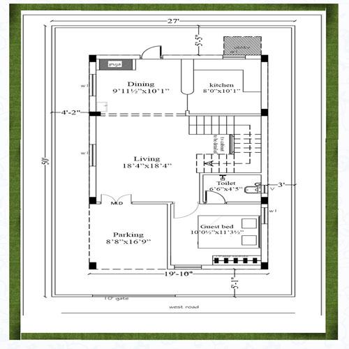 Adasada homes floorplan 1720sqft west facing