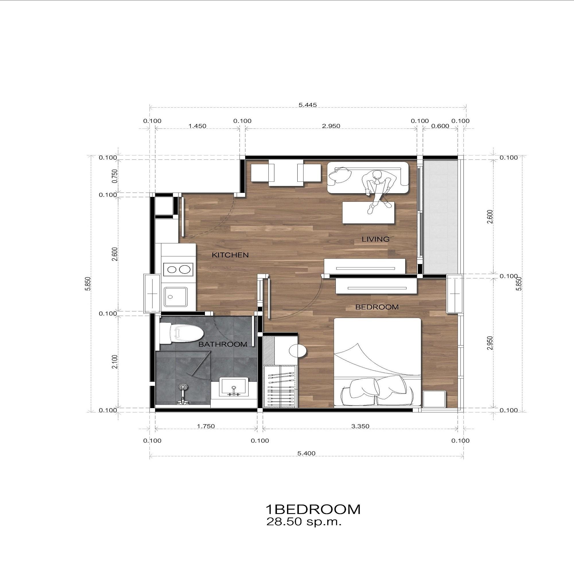 Amigo Grandeur Condominiums floorplan 415sqft east facing