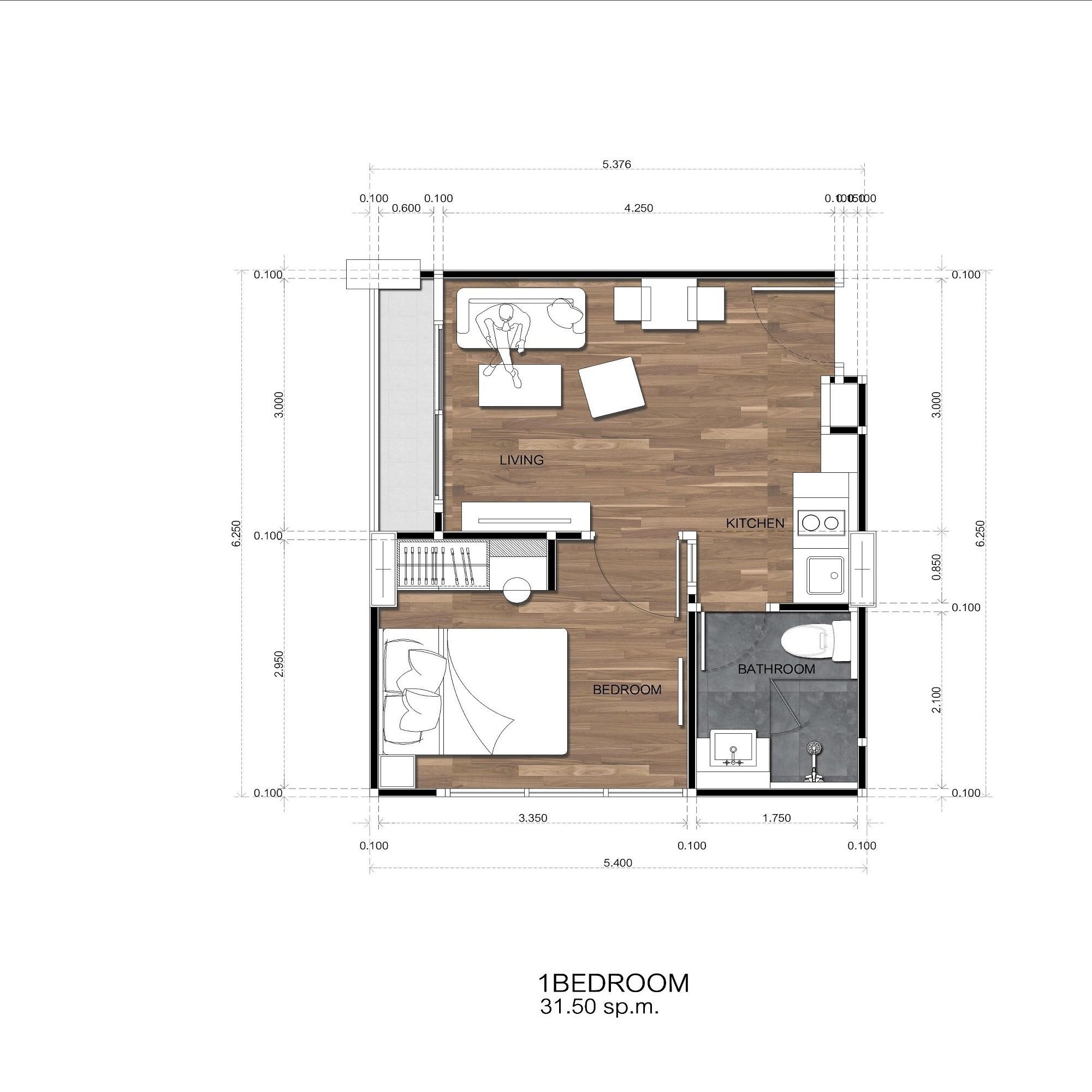 Amigo Grandeur Condominiums floorplan 460sqft east facing