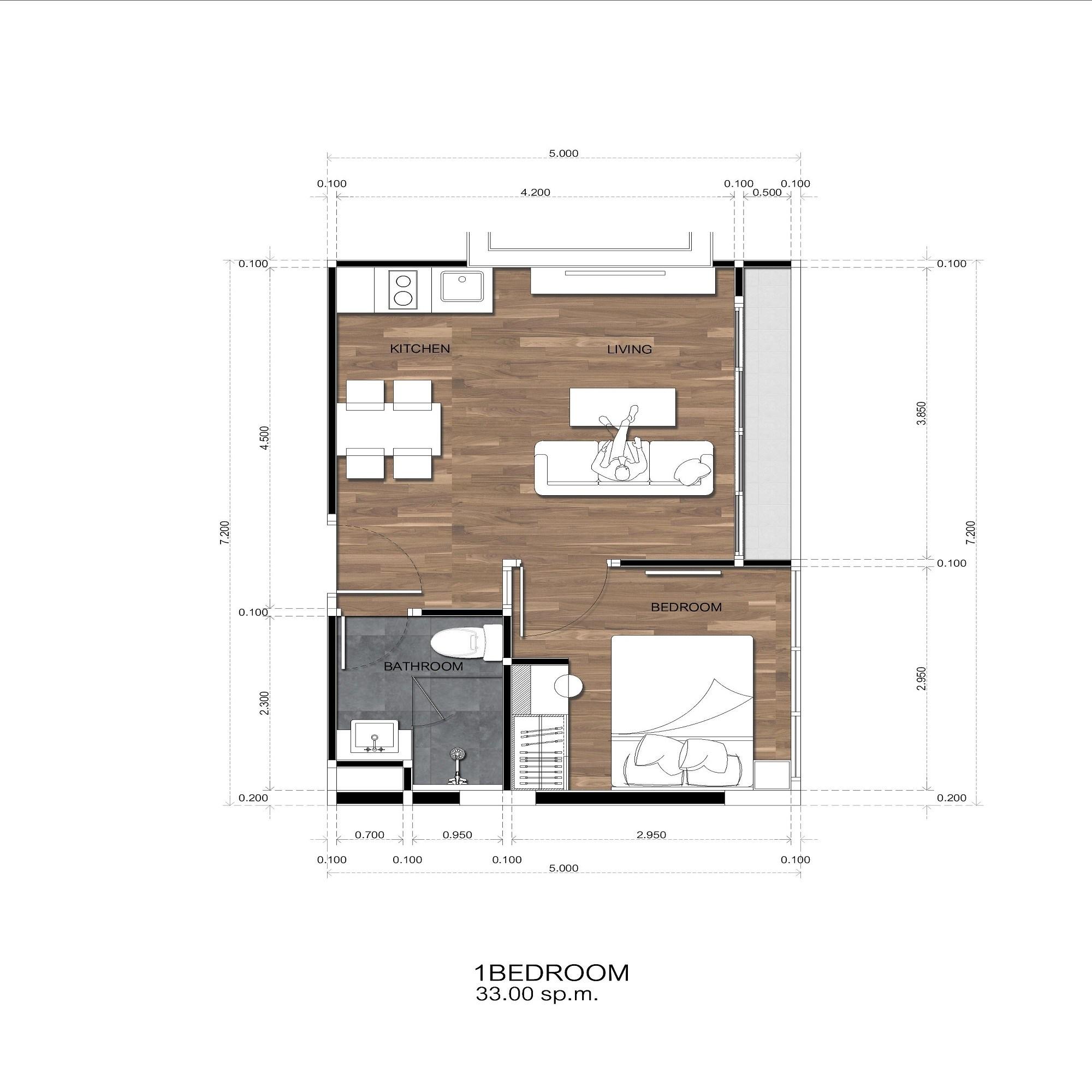 Amigo Grandeur Condominiums floorplan 480sqft east facing