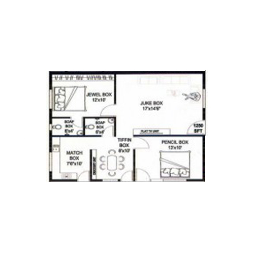 Bamboo den floorplan 1150sqft north facing