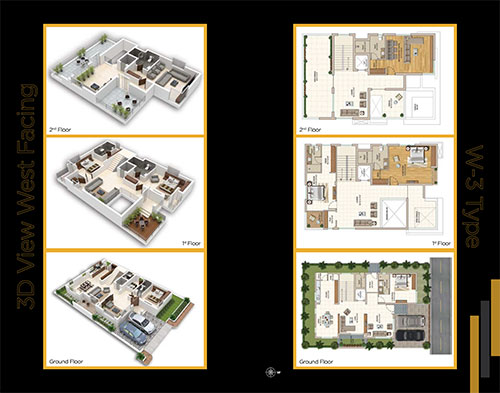 Boulevard floorplan 4793sqft west facing