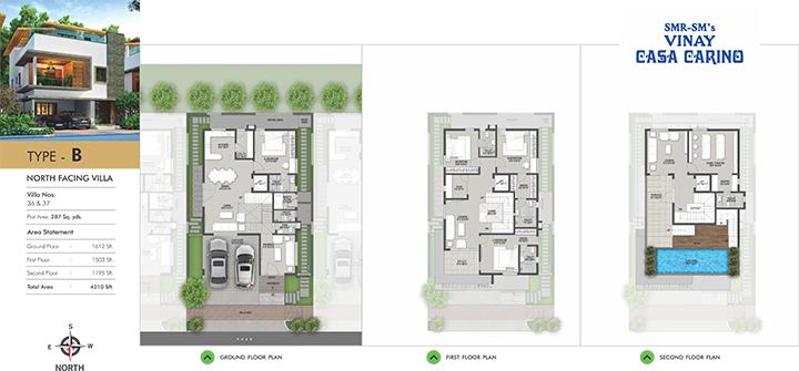Casa Carino floorplan 4310sqft north facing