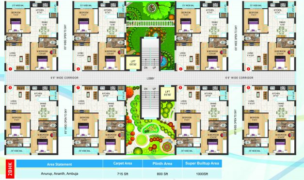 Chandrika Ayodhya floorplan 715sqft east facing