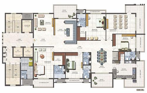 DSR Fortune Prime floorplan 2625sqft east facing