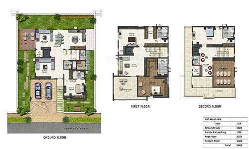 Green Dale floorplan 5460sqft west facing