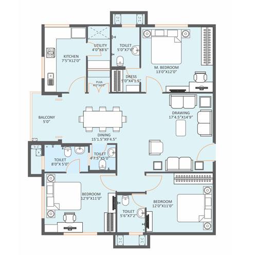 Harmony floorplan 2344sqft east facing