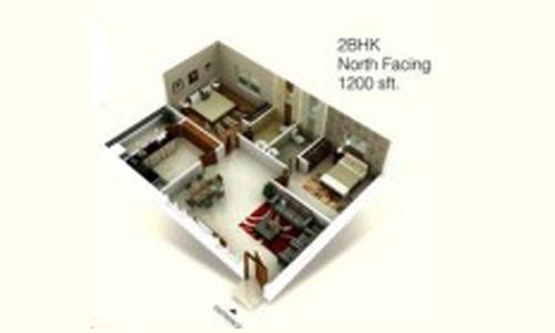 Hema Twin bliss floorplan 1200sqft north facing