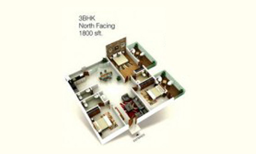 Hema Twin bliss floorplan 1800sqft north facing