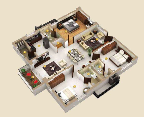 Honer Vivantis floorplan 1760sqft east facing
