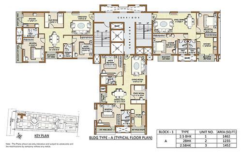 Indiabulls Sierra floorplan 1135-1235sqft east facing