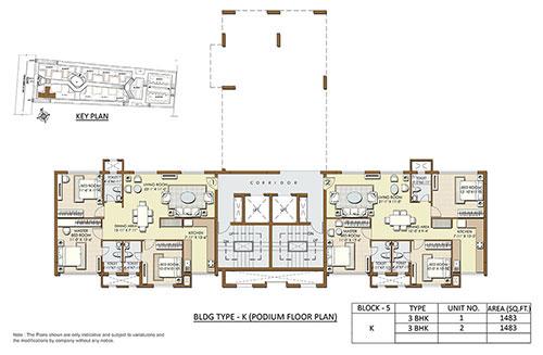Indiabulls Sierra floorplan 1483sqft east facing