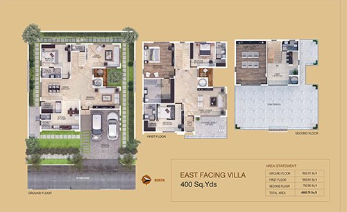 KEERTHI WEST WINDS floorplan 3600sqft east facing