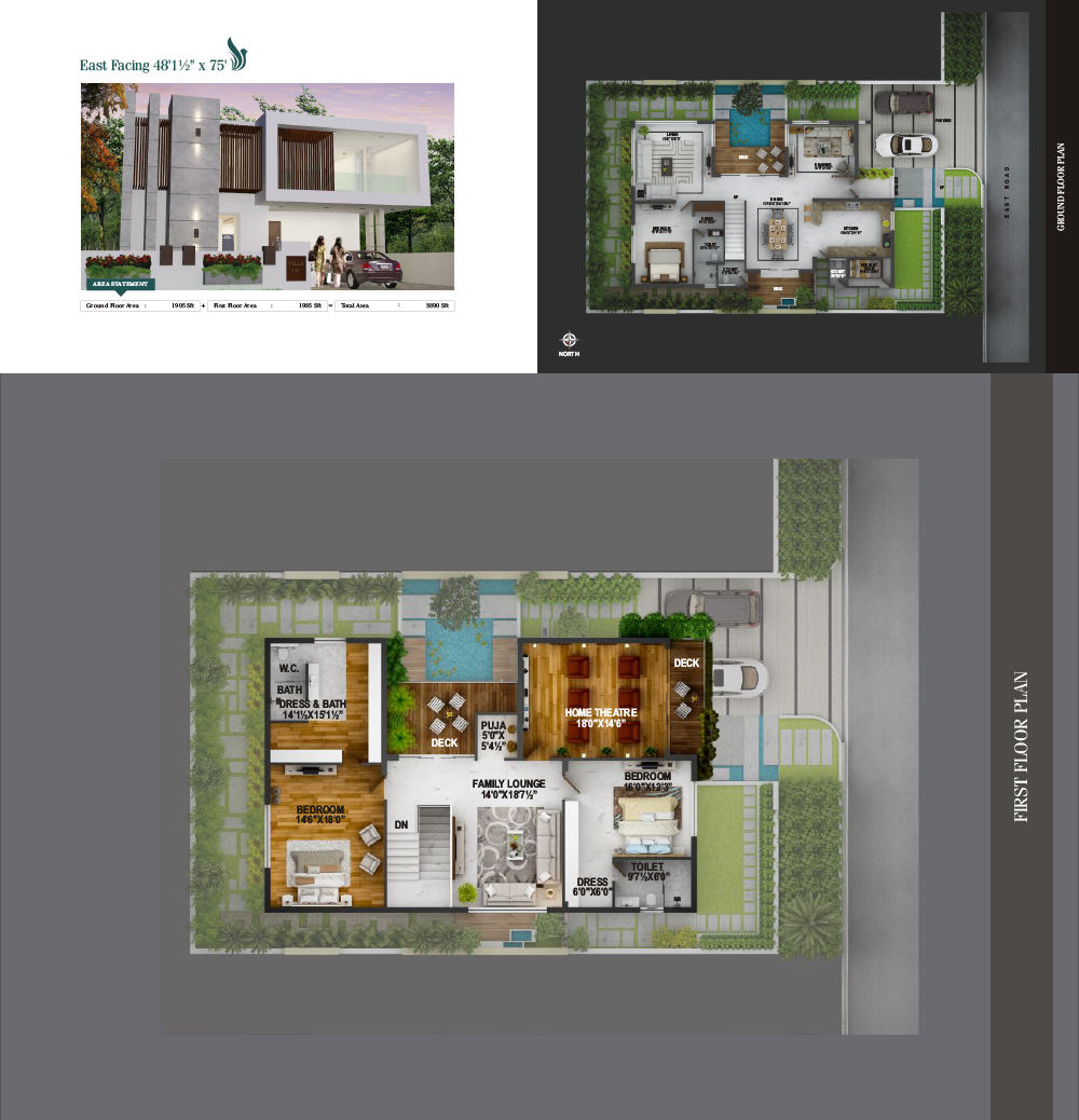 Lapaloma floorplan 3890sqft east facing