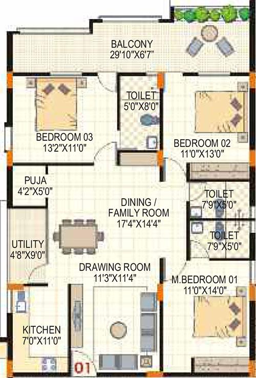 Lorven Altius floorplan 1645sqft east facing