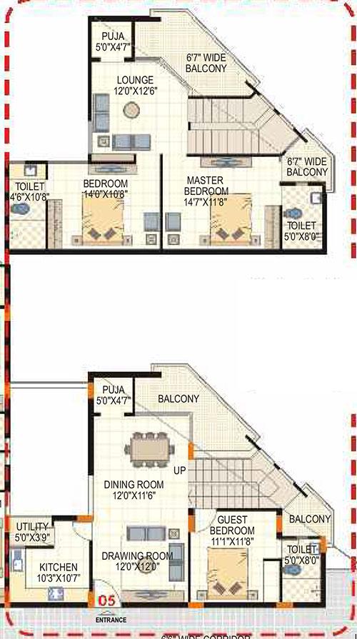 Lorven Altius floorplan 2075sqft east facing