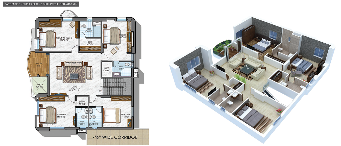 NCC Urban Gardenia floorplan 4152sqft east facing