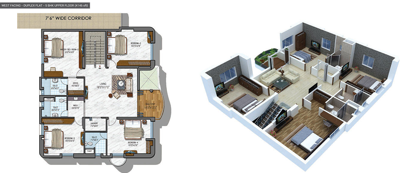 NCC Urban Gardenia floorplan westsqft 4146 facing
