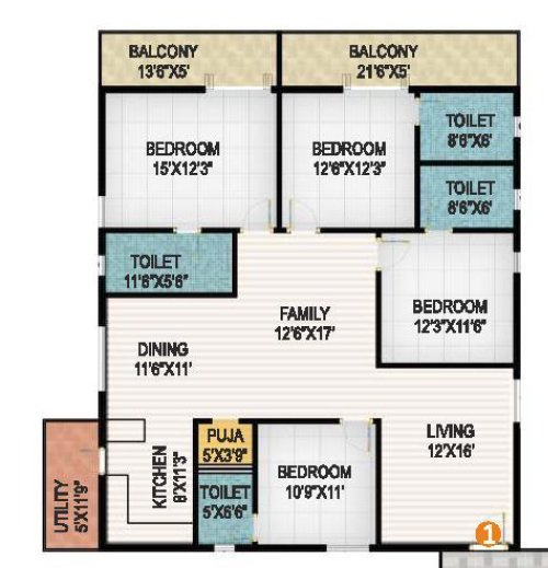 Niharika interlake floorplan 2600sqft west facing