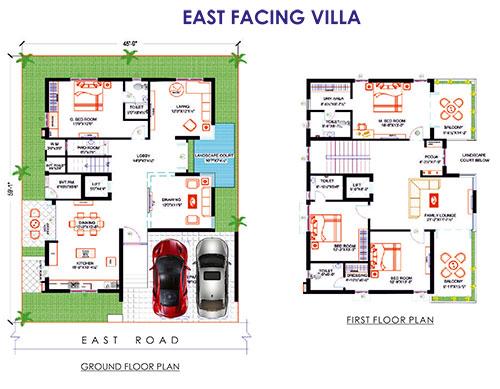 PVR Urban Life floorplan 4185sqft east facing