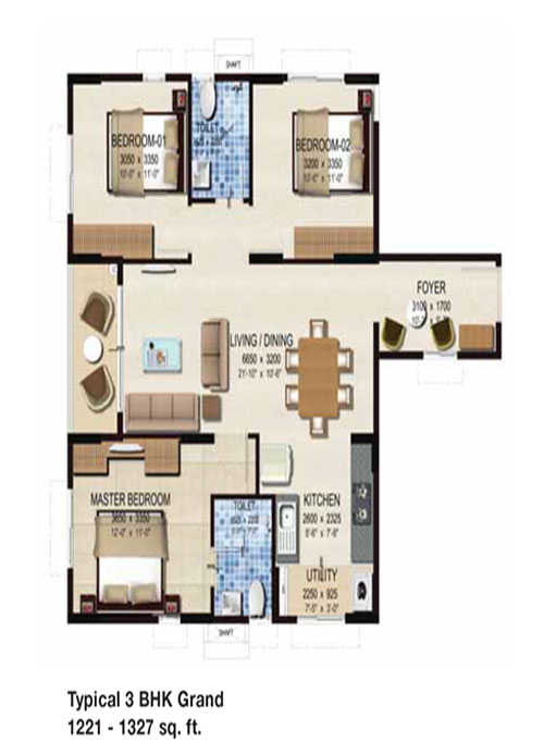 Provident Kenworth floorplan 1300sqft north facing