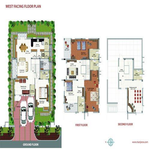 Purple town floorplan 3500sqft west facing