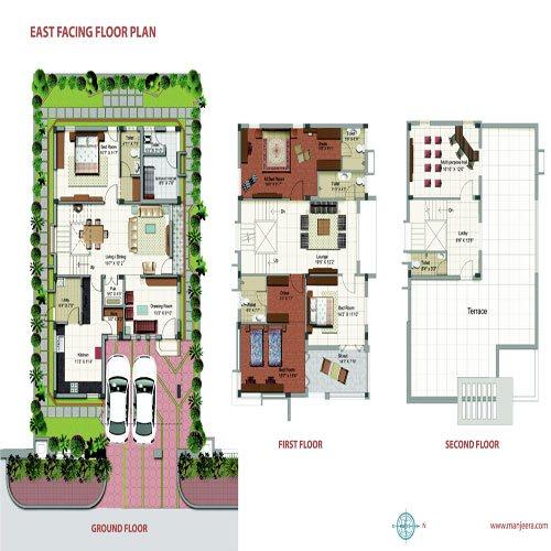 Purple town floorplan 3400sqft east facing