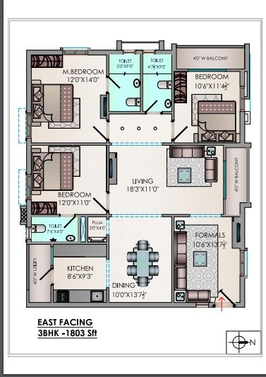 Riddhis Valentino floorplan 1803sqft east facing