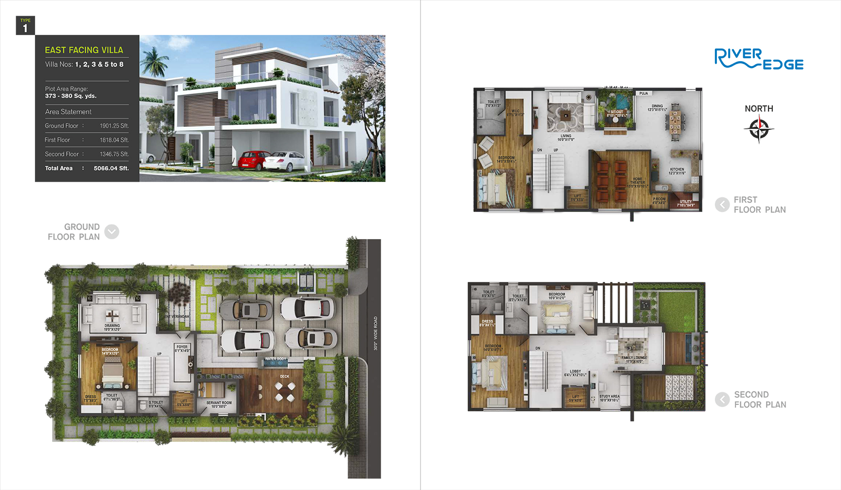 RiverEdge floorplan 5066.05sqft east facing