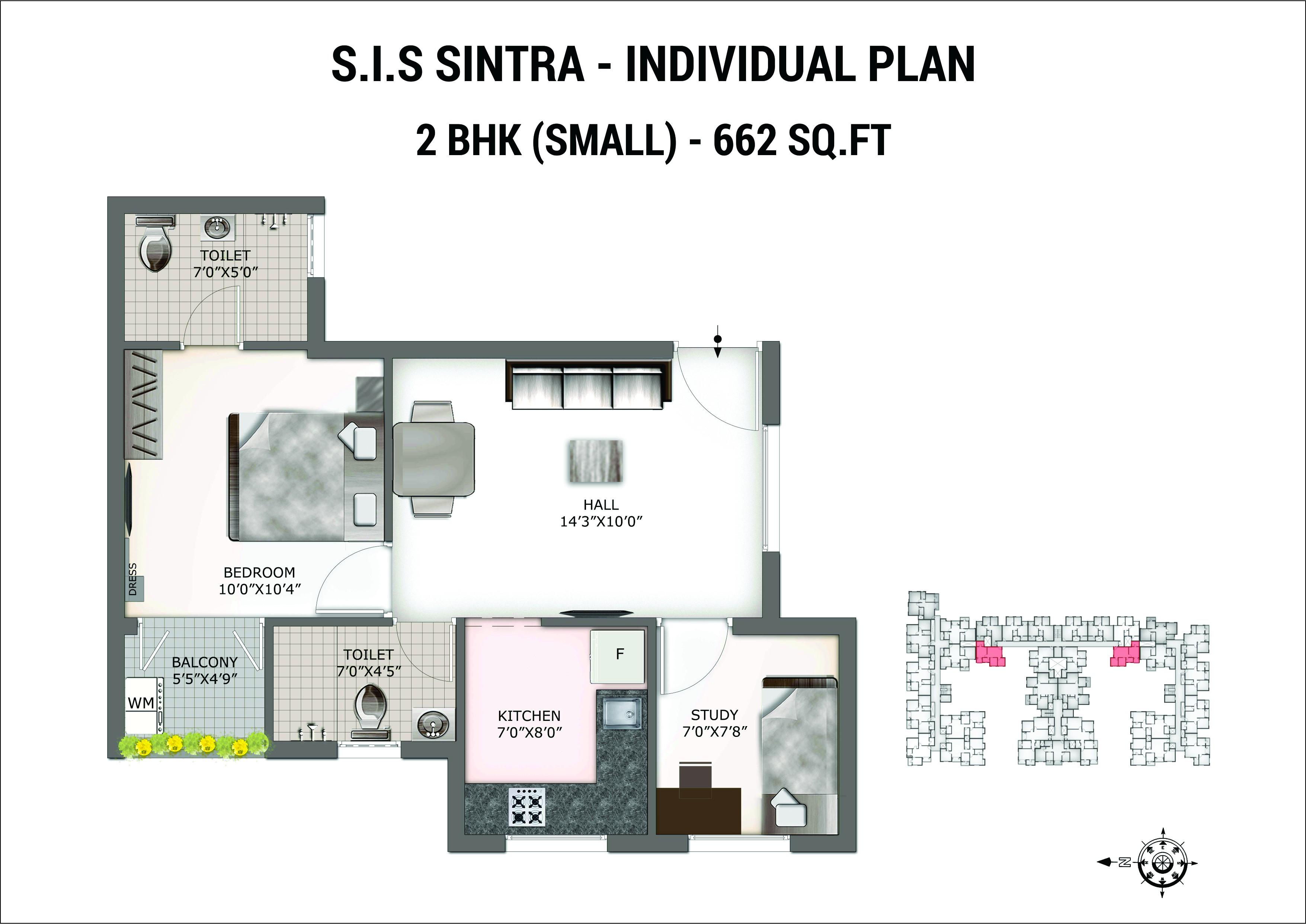 SIS Sintra floorplan 662sqft east facing