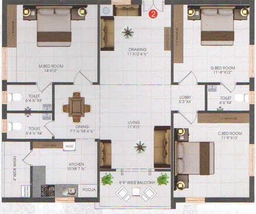 SNR meadows floorplan 1540sqft north facing