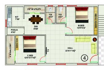 SRI VARI PALACE floorplan 1280sqft east facing