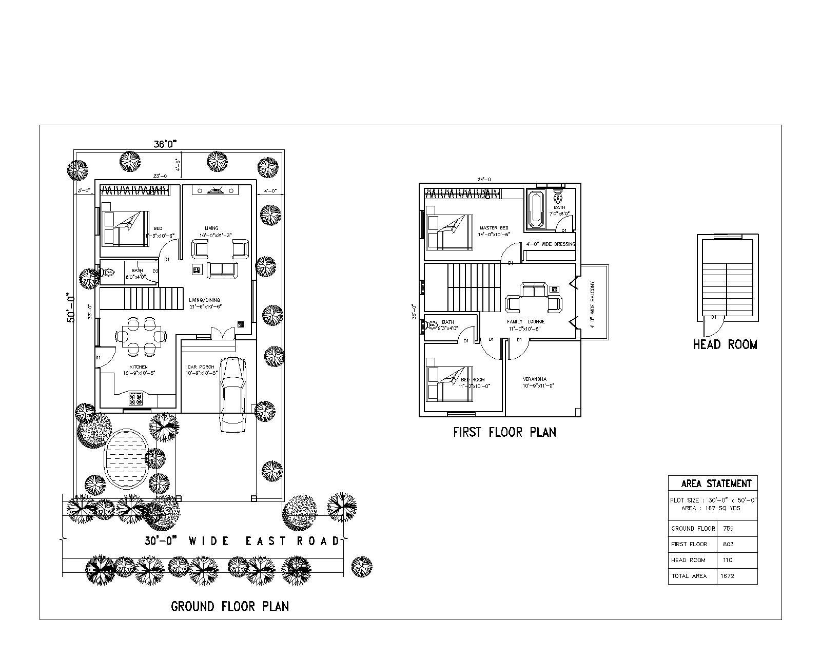 SRK Green Park floorplan 1503sqft east facing