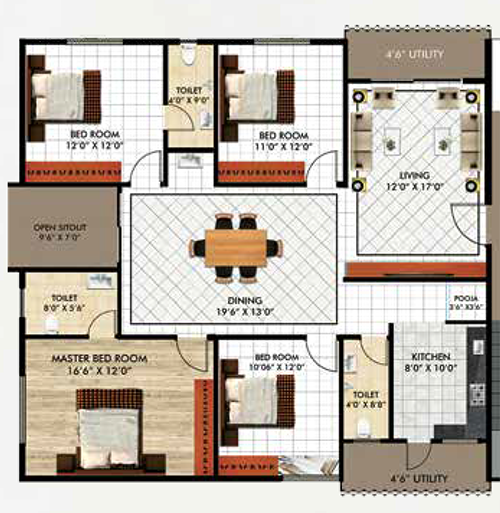 Sahasraa floorplan 2016sqft east facing
