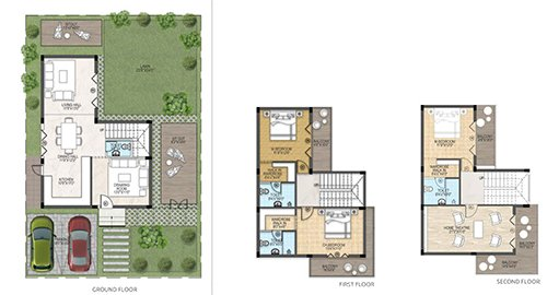 Sark Garden floorplan 2400sqft east facing