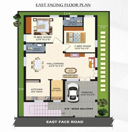 Senthan Green Park floorplan 1350sqft east facing