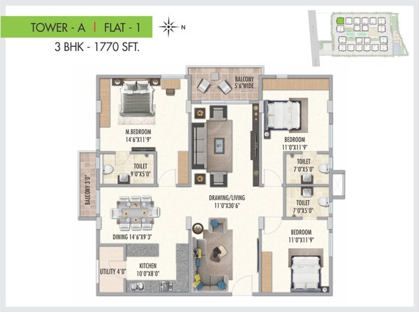 Serenity Park floorplan 1770sqft west facing