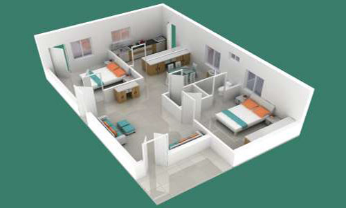 Sks Mega Township floorplan 1900 sqft east facing
