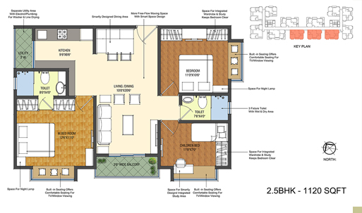 Smondo floorplan 1120sqft north facing
