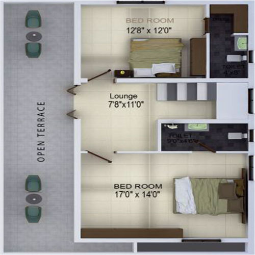 Spanzilla floorplan 1600sqft north facing