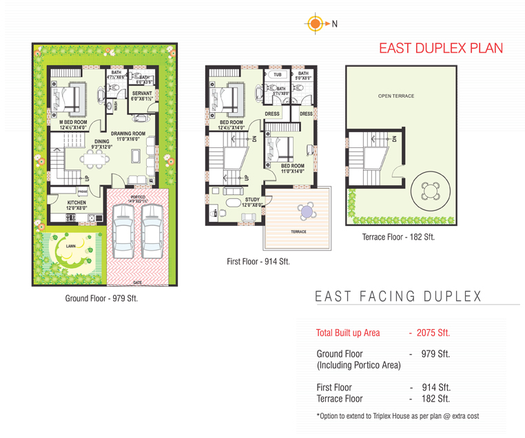Sterling Homes floorplan 2075sqft east facing