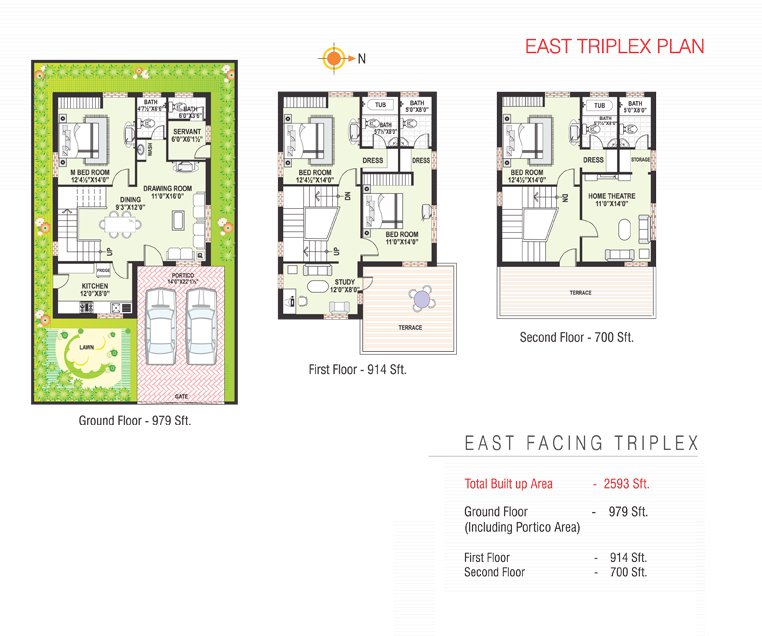 Sterling Homes floorplan 2593sqft east facing