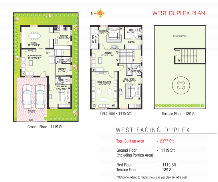 Sterling Homes floorplan 2377sqft west facing