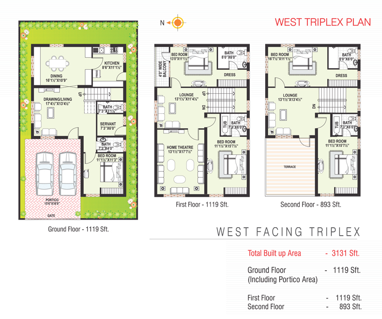 Sterling Homes floorplan 3131sqft west facing