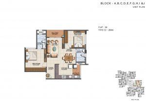 Sumudhura Eden Garden floorplan 1105sqft west facing