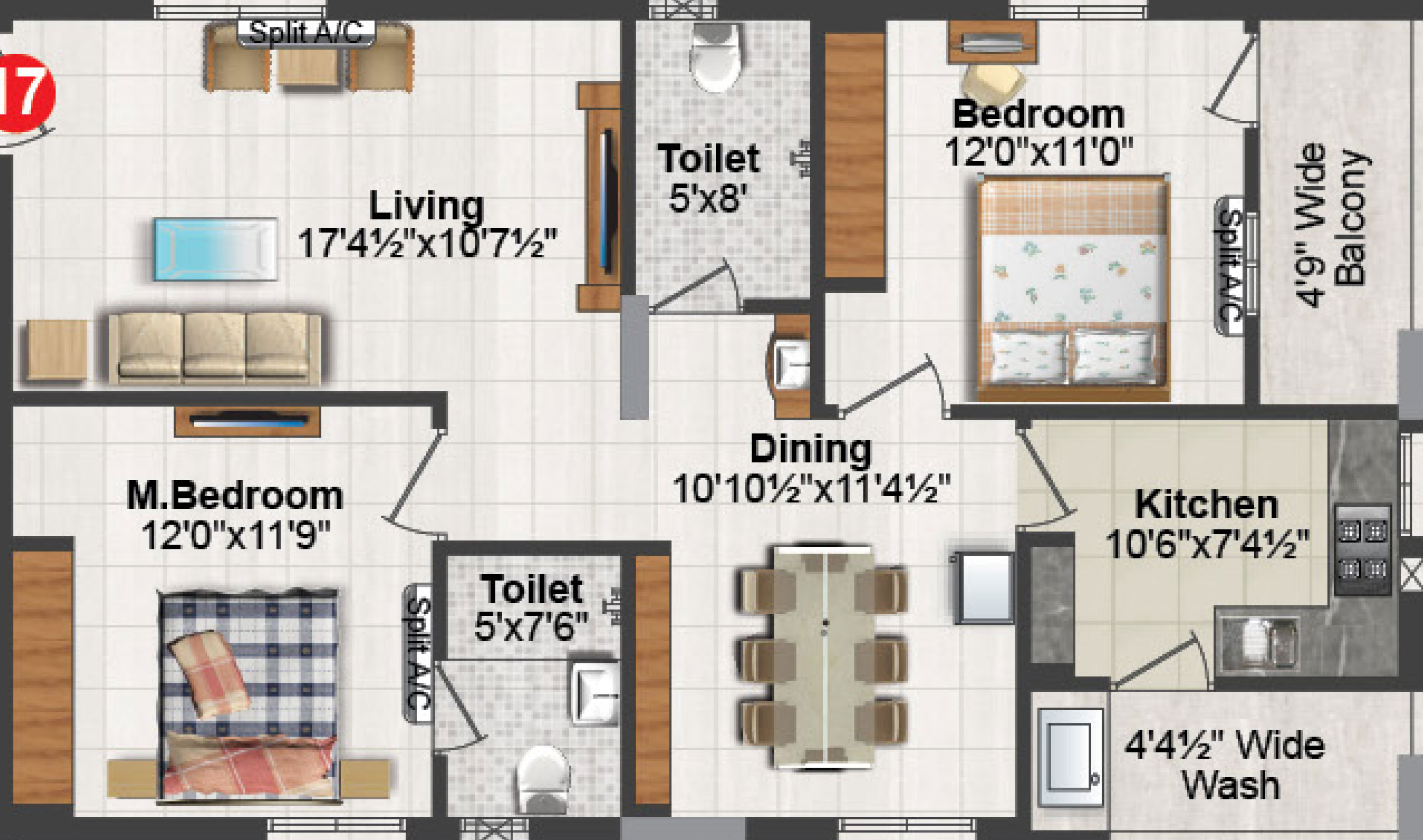 The sankalp floorplan 1330sqft north facing