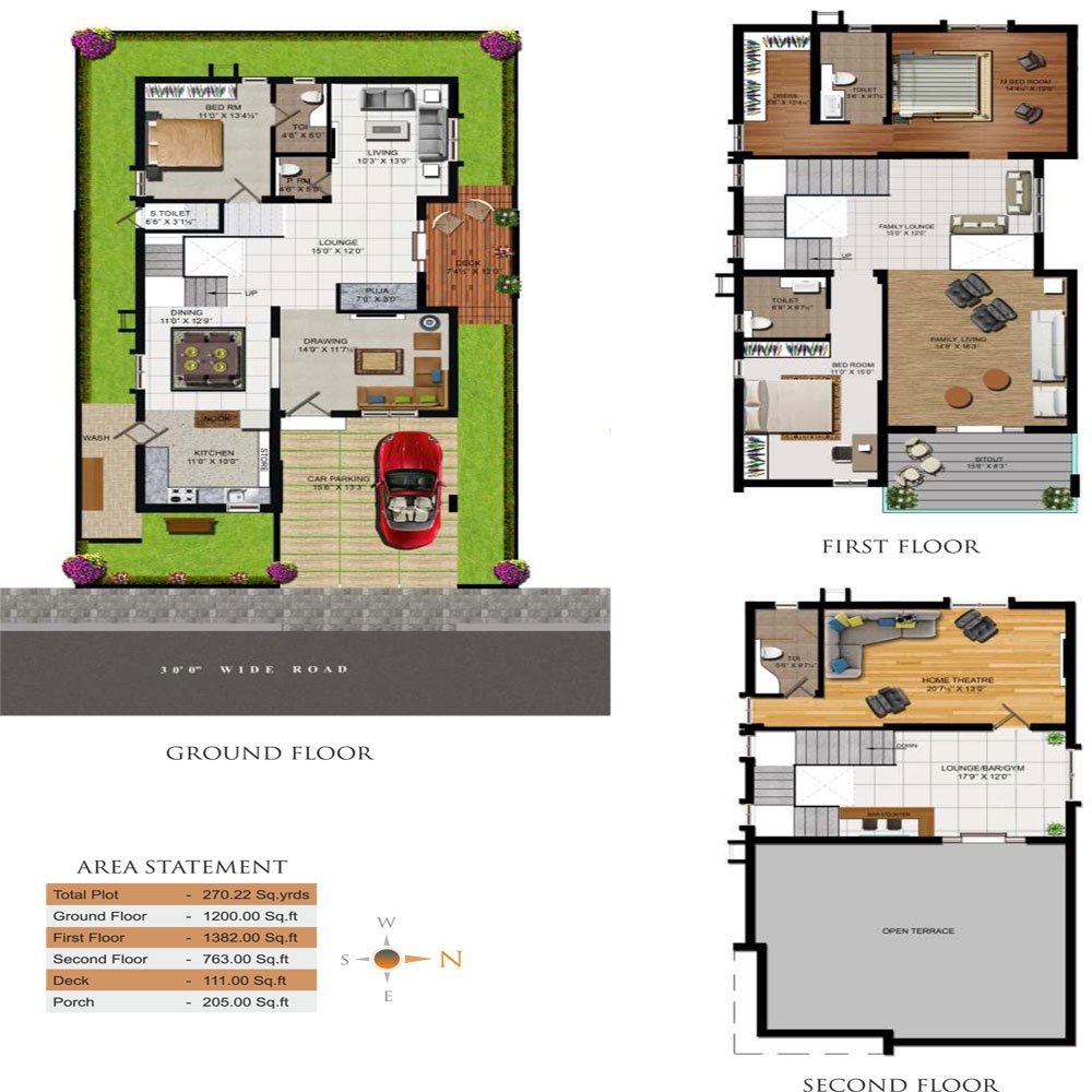 Triumph Villas floorplan 3264sqft east facing