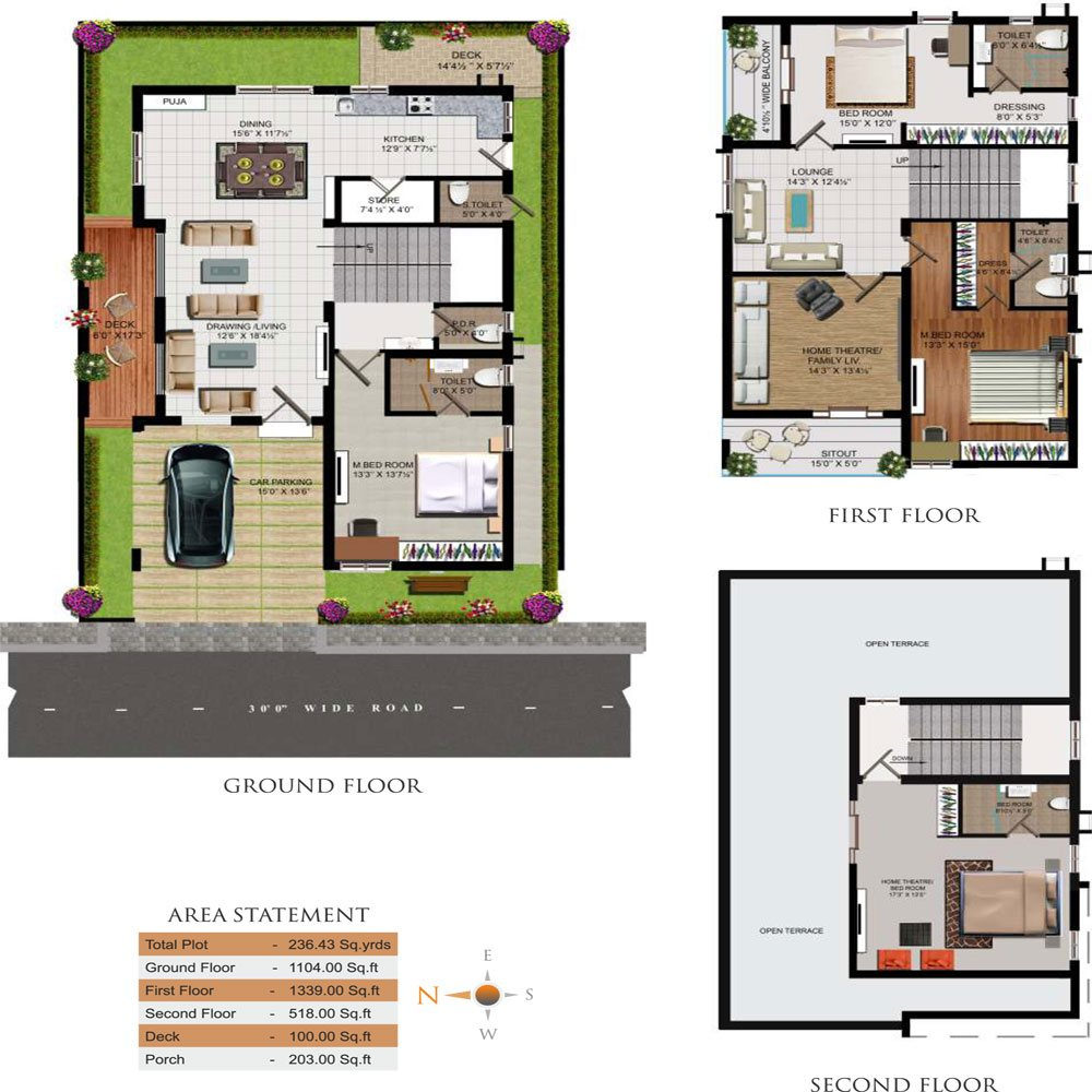 Triumph Villas floorplan 3661sqft west facing