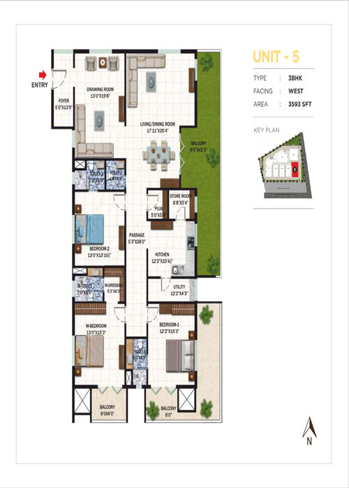 Usharam Integra floorplan 4785sqft north facing