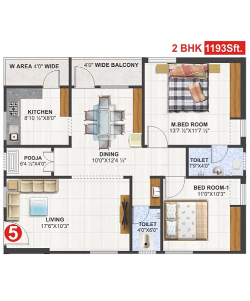 Utkarsha Abodes floorplan 1193sqft south facing